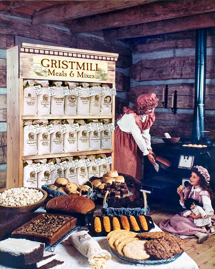 Gristmill Meals and Mixes Ad