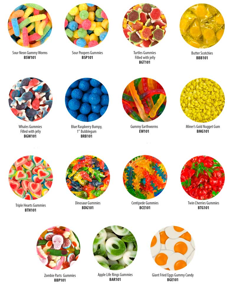 Bulk Candy Flavors Ad