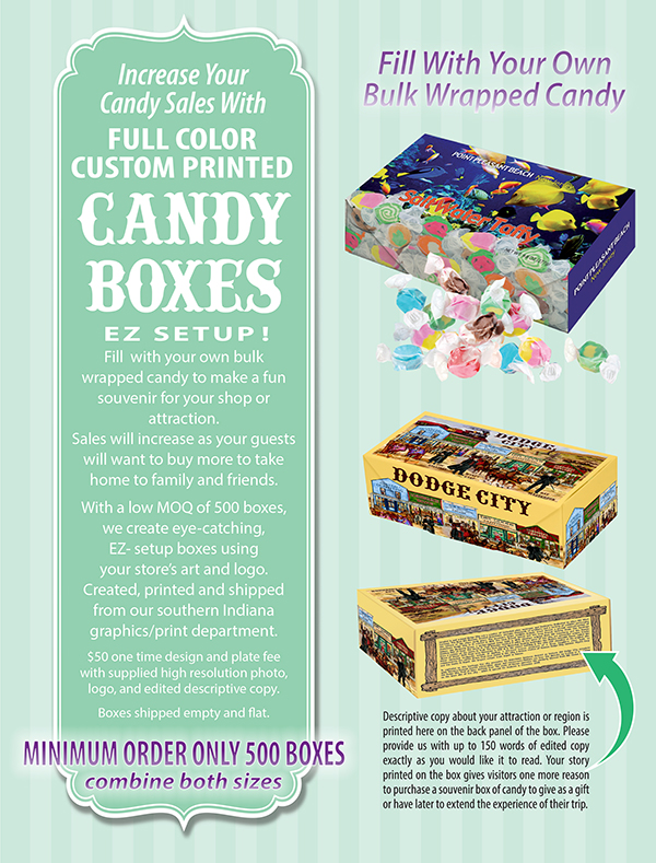 Custom Printed Candy Boxes Ad