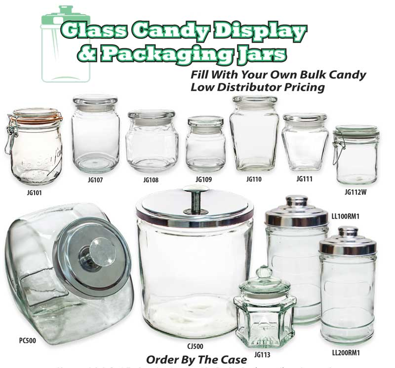 Candy Display Jars Containers Squire Boone Village Products