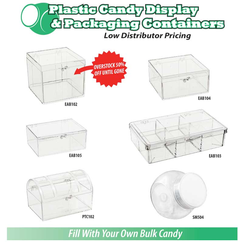 Candy Display Jars & Containers Ad