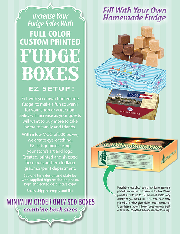 Custom Printed Fudge Boxes Ad
