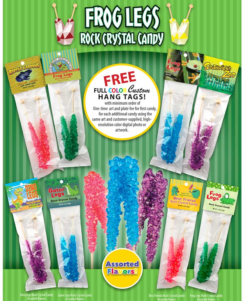 Rock Crystal Candy Frog Legs Ad