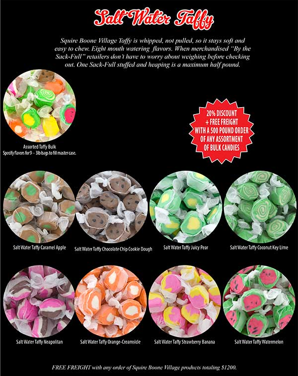 Salt Water Taffy - Squire Boone Village Products - Bloom