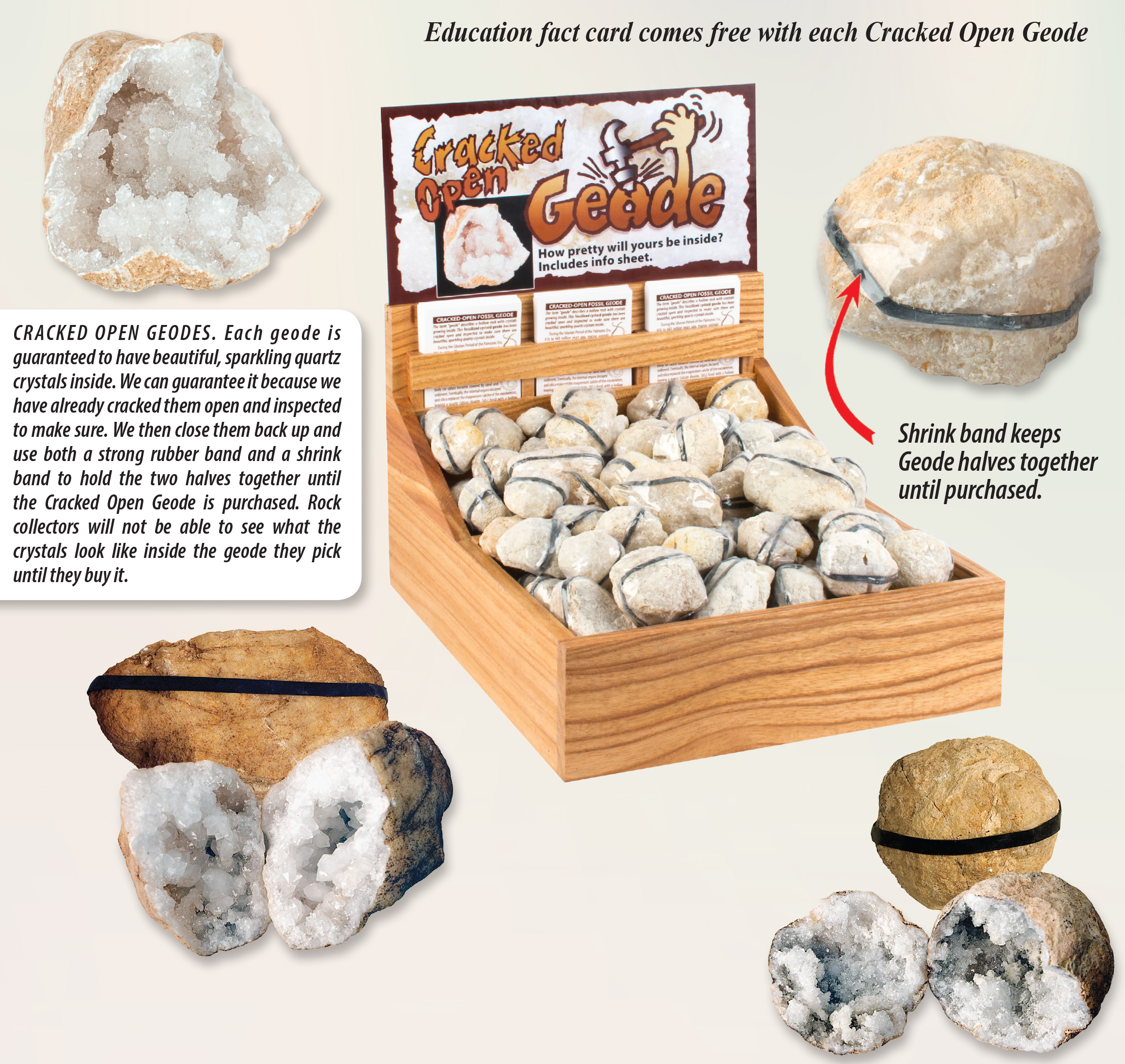 Cracked Open Geodes Ad