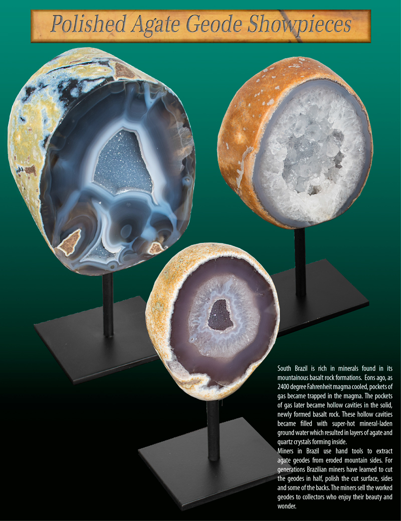 Polished Agate Geode Showpiece Ad