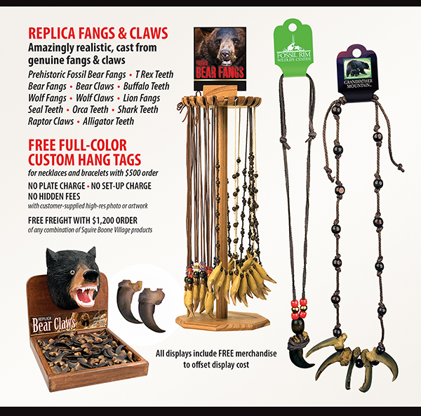 Bear Claw Necklaces Ad