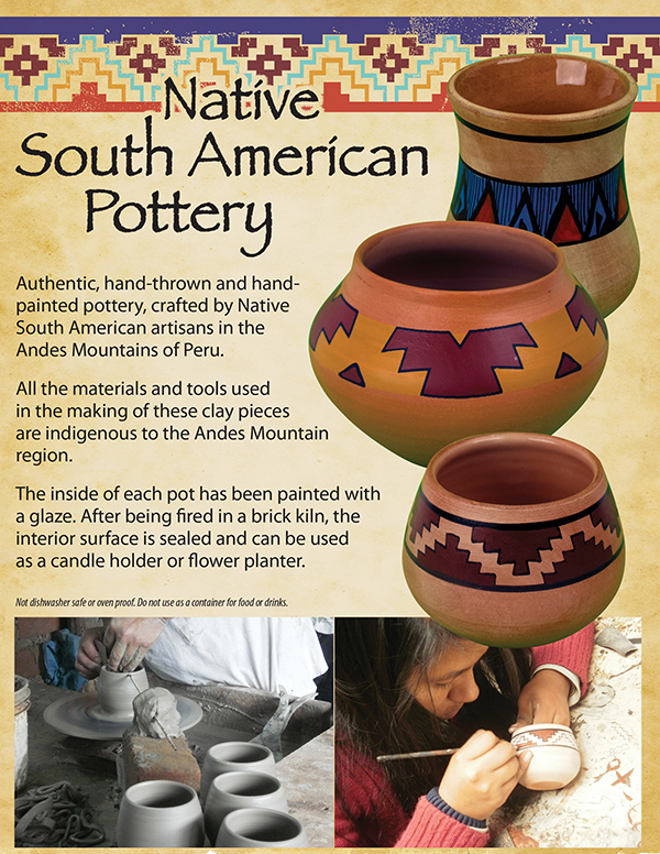 Andean Pottery Ad