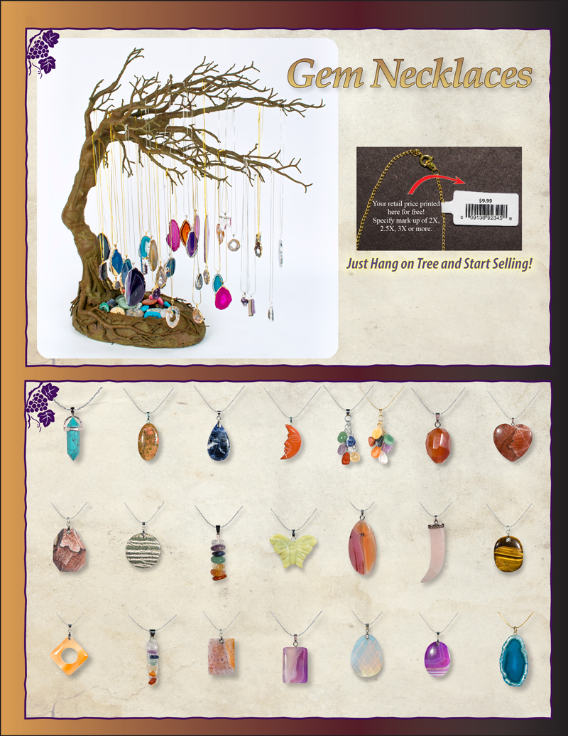 Winery Grapevine Jewelry Displays Ad
