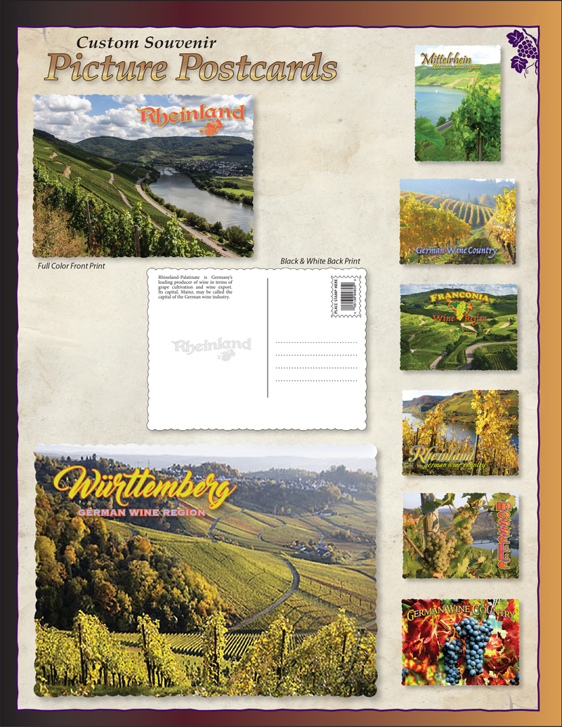 Custom Winery Postcards Ad
