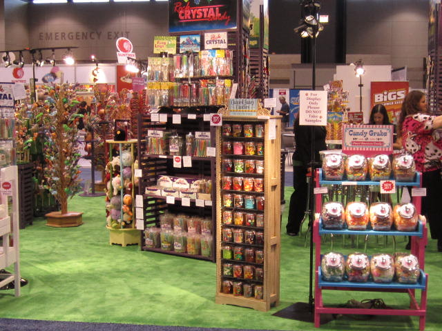 Candy Grabs, Canned Fancy Candies, and Rock Crystal Candy - Squire Boone Village at NCA Sweets and Snacks Expo
