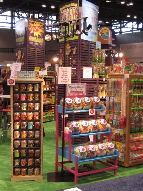 Canned Fancy Candies and Candy Grabs - Squire Boone Village at NCA Sweets and Snacks Expo